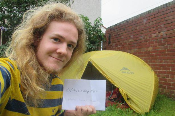 This Student Couldnt Afford His Rent So He Lived in a Tent tent 2