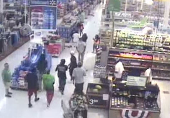 A Gang Of 50 Try And Destroy Walmart, Epically Fail walmart web