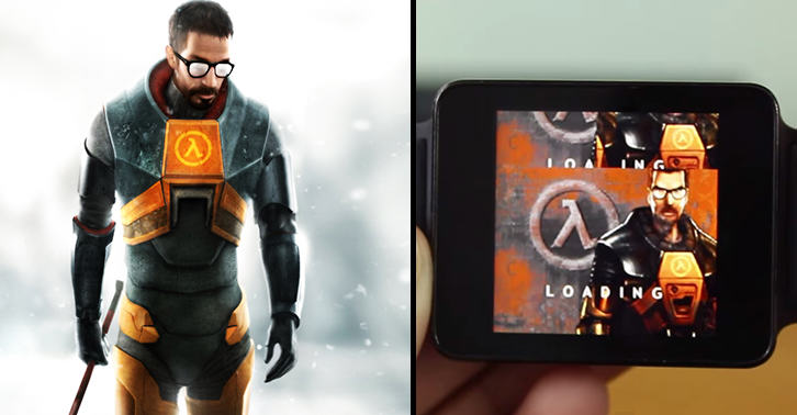 This Genius Has Figured Out How To Play Half Life On His Smartwatch watchfacebook