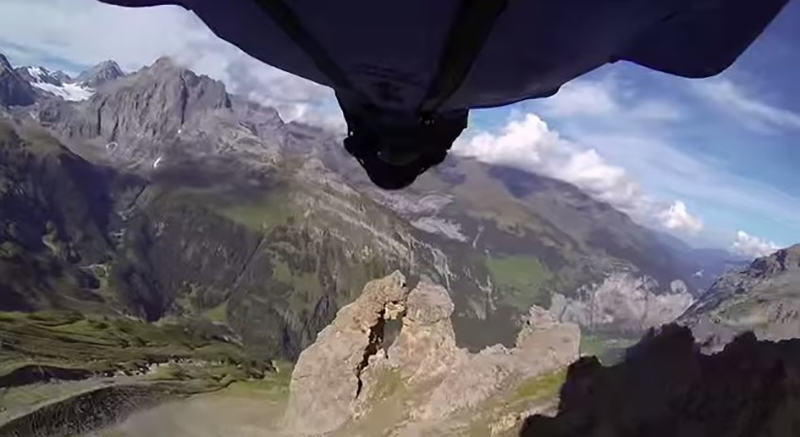 Maniac Flies Through Tiny Hole At Speed In Wingsuit wingsuit 11