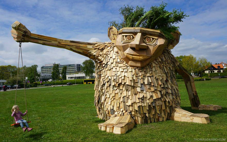 This Guys Massive Scrap Wood Sculptures Are Incredible wp1
