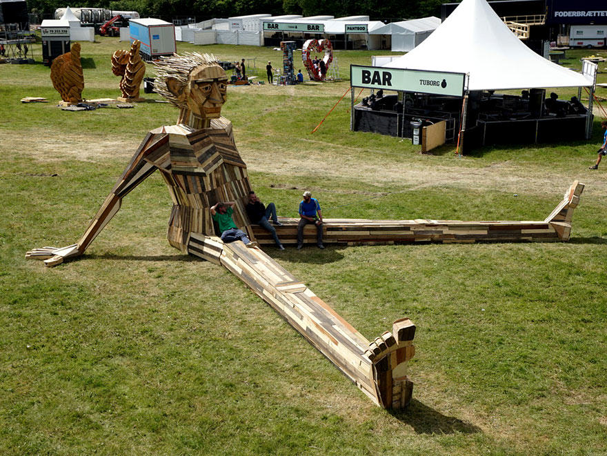 This Guys Massive Scrap Wood Sculptures Are Incredible wp2