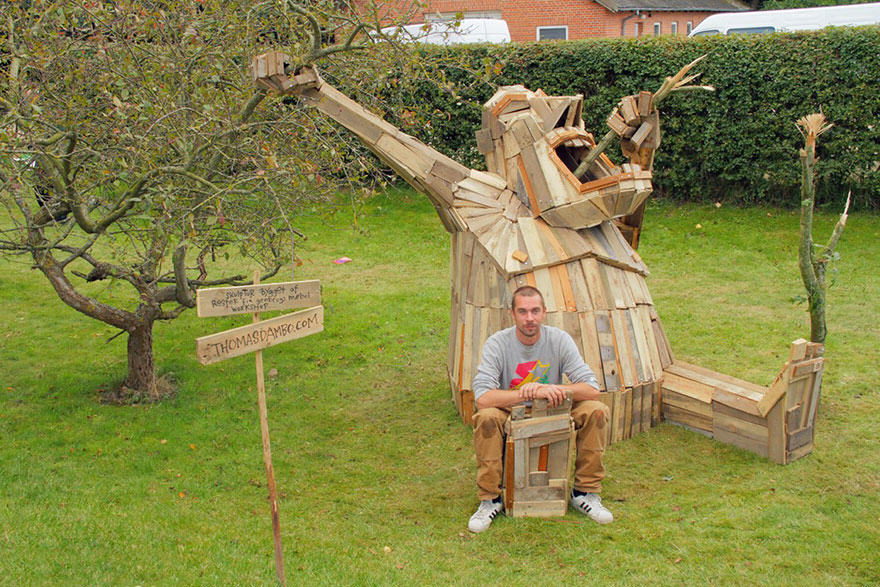 This Guys Massive Scrap Wood Sculptures Are Incredible wp6