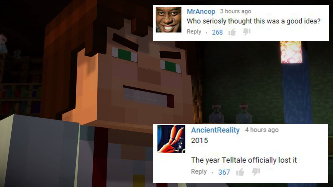 Telltale Games Reveal Controversial New Trailer For Minecraft: Story Mode youtubeminecraft4c