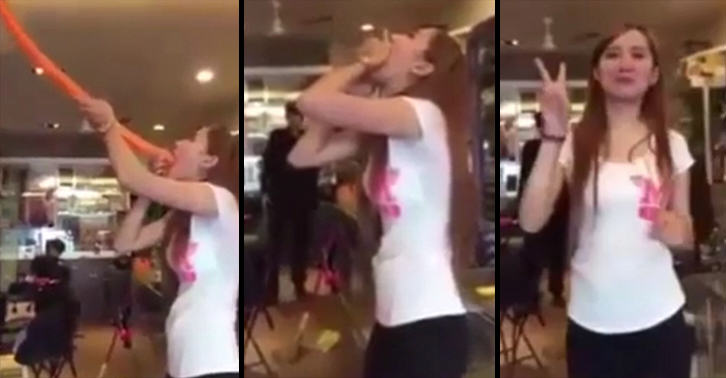 Video Of Woman Swallowing Four Foot Long Balloon Goes Viral HsWGvT98Pballoon swallow FB.jpg