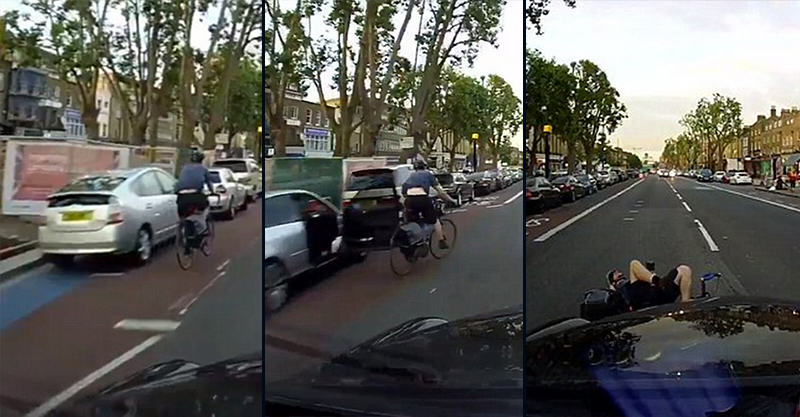 Shocking Moment Cyclist Swerves Car Door And Gets Hit By Taxi KDhXdkcfI