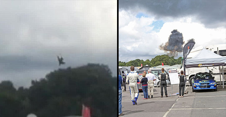 Stunt Plane Crashes At Cheshire Car Festival PuCjqQLrGcheshire crash FB.jpg