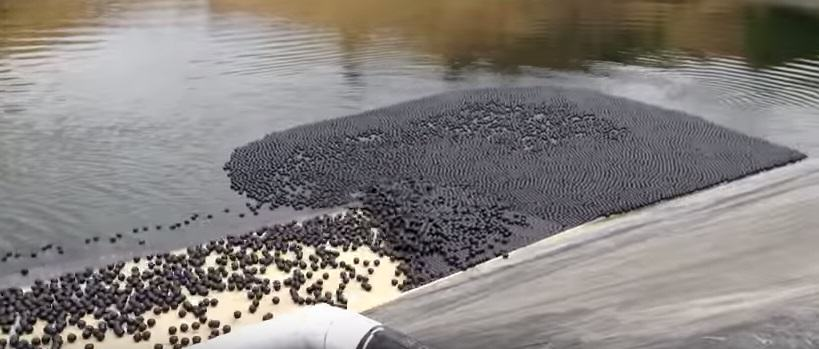 This Video Of Thousands Of Black Balls Rolling Into A Reservoir Is Strangely Therapeutic   But Why? UNILAD 26