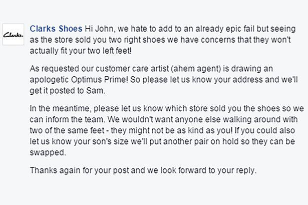 Clarks Respond Brilliantly To Kids Two Right Shoes Complaint   WARNING: Contains Transformers UNILAD 343