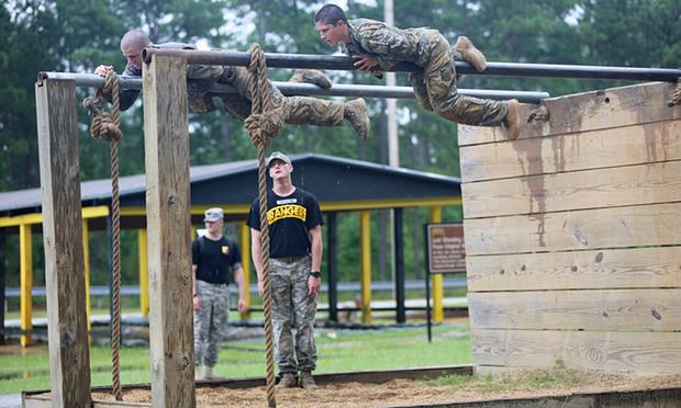 5760Captain Kristen Griest trains at the US Army Ranger School in Fort Benning, Georgia. Photograph- Us Army:Reuters