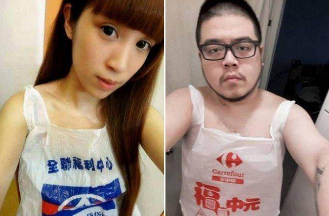 The New Fashion Trend In Asia... Wearing Nothing But Plastic Bags UNILAD 75