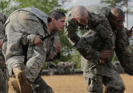 Capt. Kristen Griest participates in Ranger School. (Photo- Spc. Nikayla Shodeen:Army)