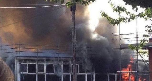 Massive Fire Rips Through School As Kids Collect GCSE Results UNILAD Dave WatsonBBC8