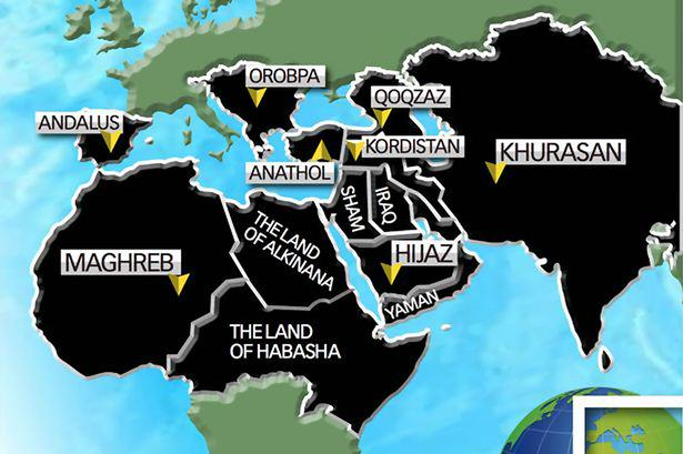 ISIS Reveal Terrifying Map Of Their Planned Global Expansion UNILAD ISIS world map6