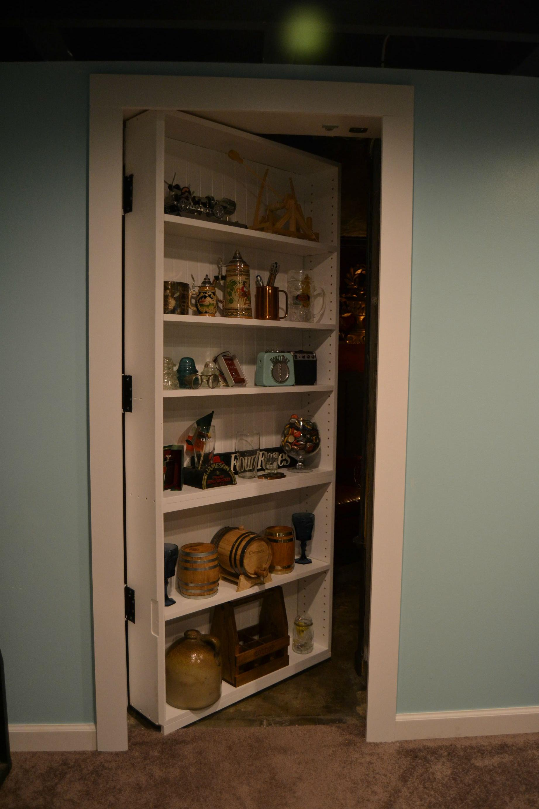 This Guy Built The Ultimate Room Behind A Secret Bookshelf Door