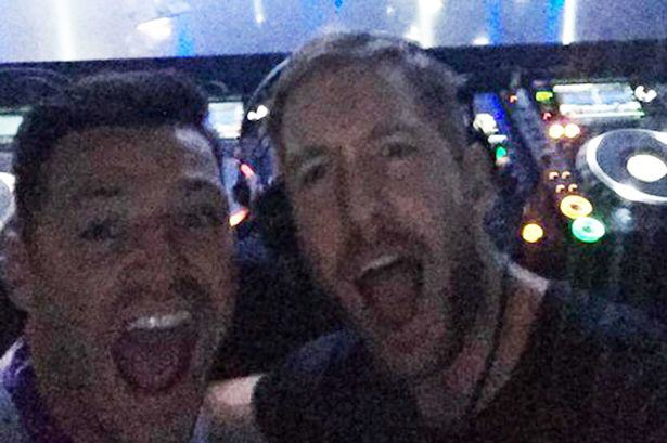 Hero Calvin Harris Refused To Let Mark Wright DJ In Las Vegas UNILAD Mark Wright and Calvin Harris4