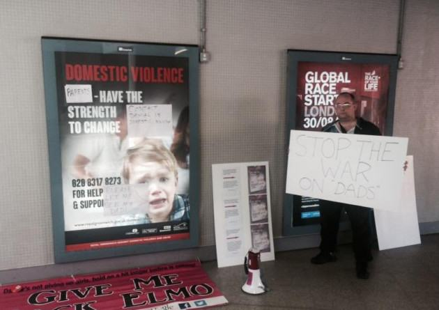 Activist Dads Removed From Station By Police After Defacing 'Sexist' Posters UNILAD New Fathers 4 Jsutice2