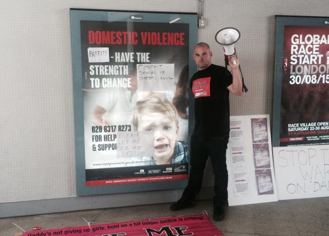 Activist Dads Removed From Station By Police After Defacing 'Sexist' Posters UNILAD New Fathers 4 Justice Bobby7