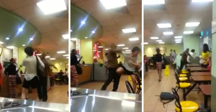 Footage Of Racist Getting Beaten Up In McDonalds Goes Viral UNILAD SMracist5