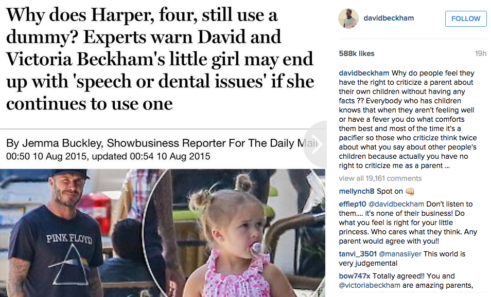 David Beckham Hits Out At Daily Mail Over Parenting Criticism UNILAD Screen Shot 2015 08 11 at 12.30.562