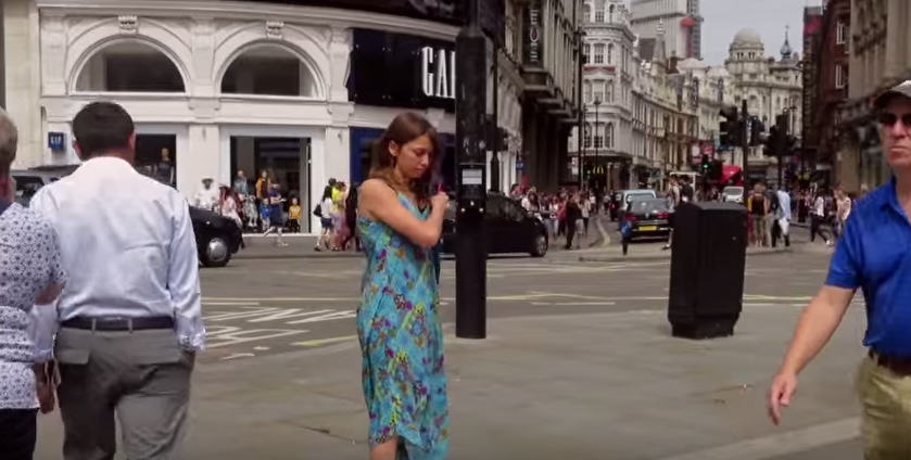 This Woman Stripped Down To Her Underwear In Central London To Send A Powerful Message UNILAD Screen Shot 2015 08 17 at 11.20.137