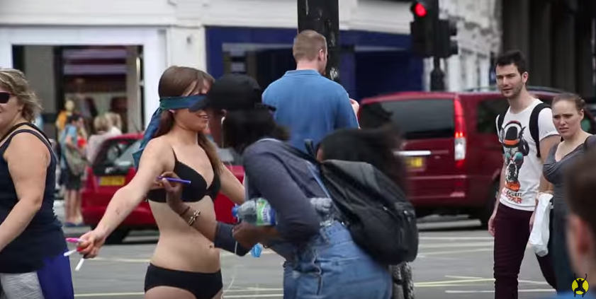 This Woman Stripped Down To Her Underwear In Central London To Send A Powerful Message UNILAD Screen Shot 2015 08 17 at 11.21.146