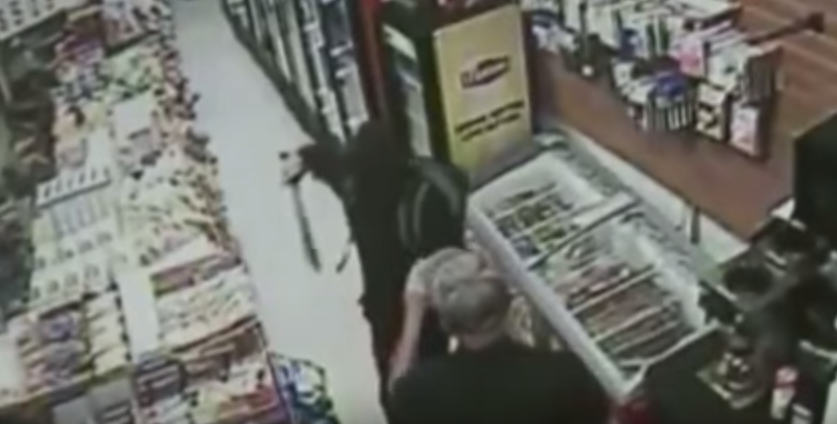 Man With Machete Tries To Rob Store, Shop Owner Whips Out Massive Sword UNILAD Screen Shot 2015 08 19 at 10.17.294