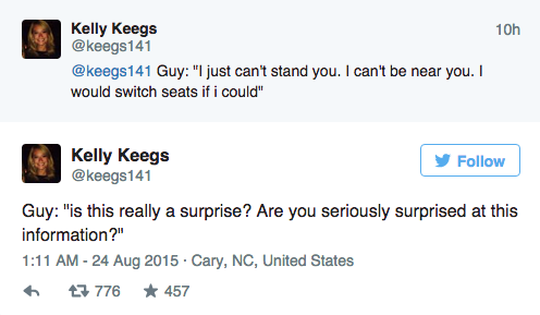 Couple Dramatically Break Up On Plane, Whole Thing Is Live Tweeted UNILAD Screen Shot 2015 08 24 at 11.59.575