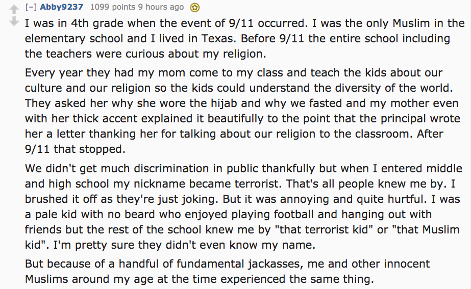Muslims Have Revealed The Drastic Ways Their Lives Changed After 9/11 UNILAD Screen Shot 2015 08 25 at 12.25.215