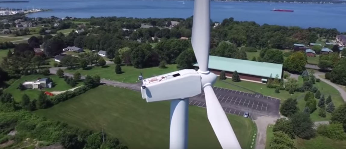 Drone Rudely Interrupts Man Sunbathing On A 200ft WIND TURBINE UNILAD Screen Shot 2015 08 28 at 11.06.413
