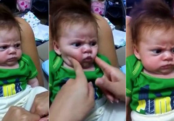 Angry Baby Takes The Internet By Storm After Refusing To Smile UNILAD babay web2