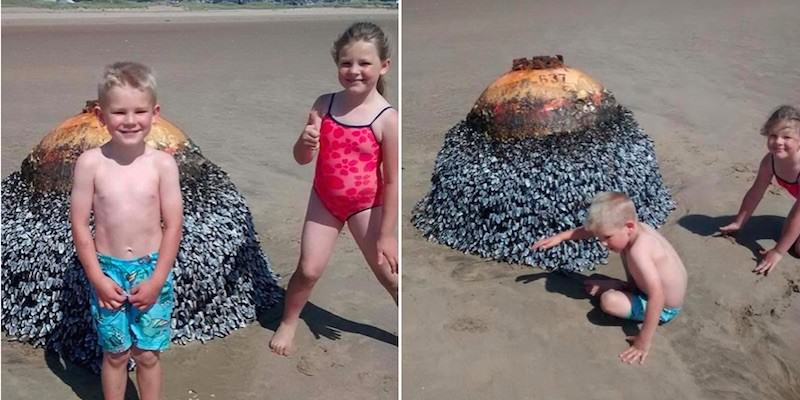 Parents Let Kids Take Photo In Front Of Active Bomb Without Realising UNILAD bomb7