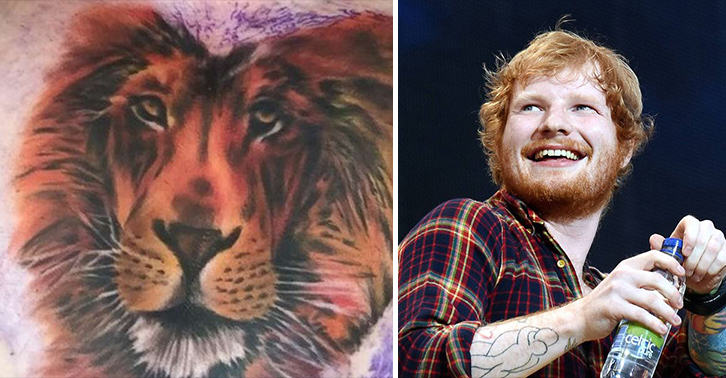 Nope Ed Sheeran S Chest Tattoo Is Not Cecil The Lion