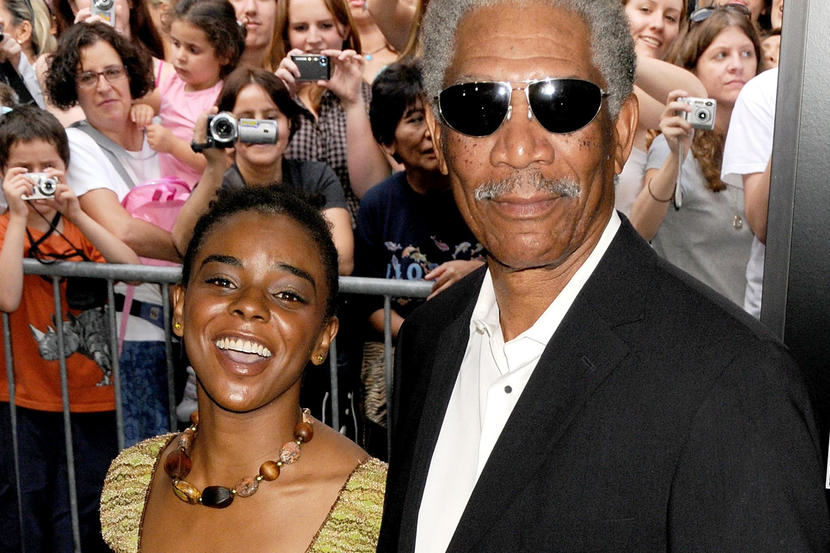 Morgan Freeman dating his step-granddaughter