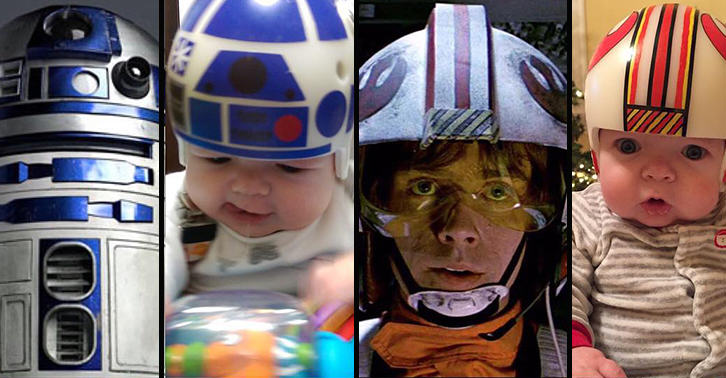 Dad Recreates Iconic Star Wars Helmets For Son After Cranial Surgery UNILAD head46