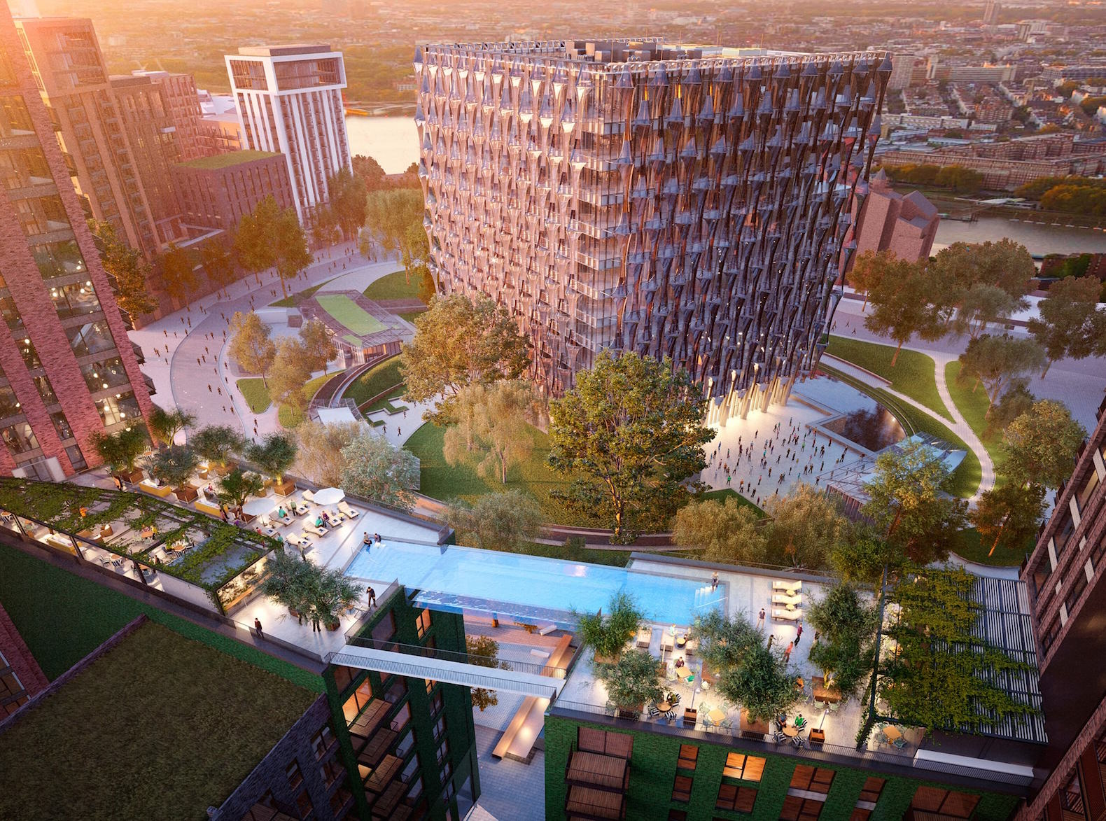 Floating Glass Swimming Pool To Be Built Between Two London Apartments UNILAD inhabitat 23