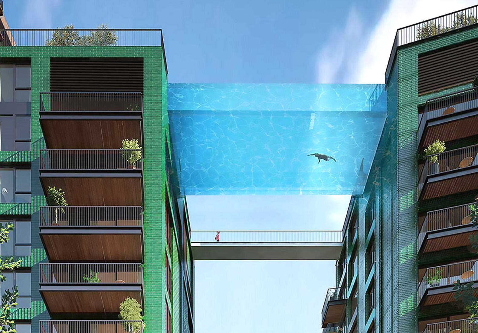 Floating Glass Swimming Pool To Be Built Between Two London Apartments UNILAD inhabitat4