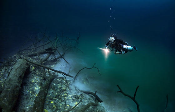 Diver Discovers Incredible Underwater River In Mexico UNILAD iver78