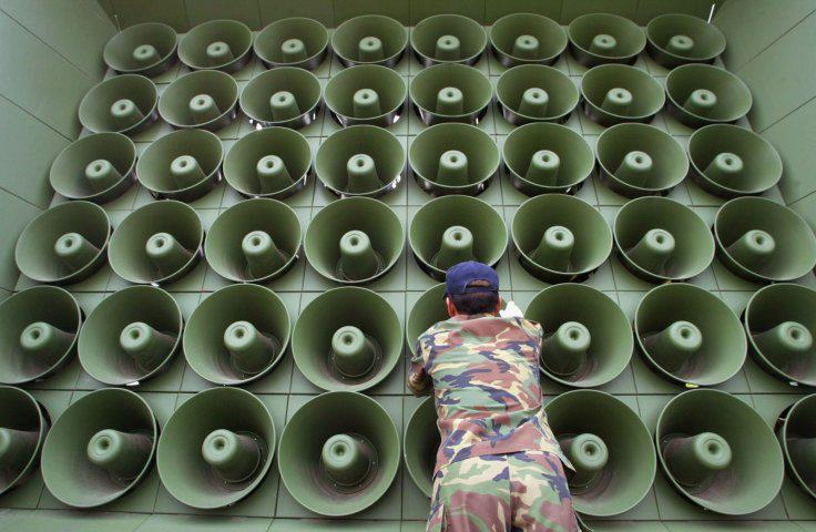 North Korea Declares It's In A 'Quasi State Of War' With The South UNILAD loudspeaker south korea getty2