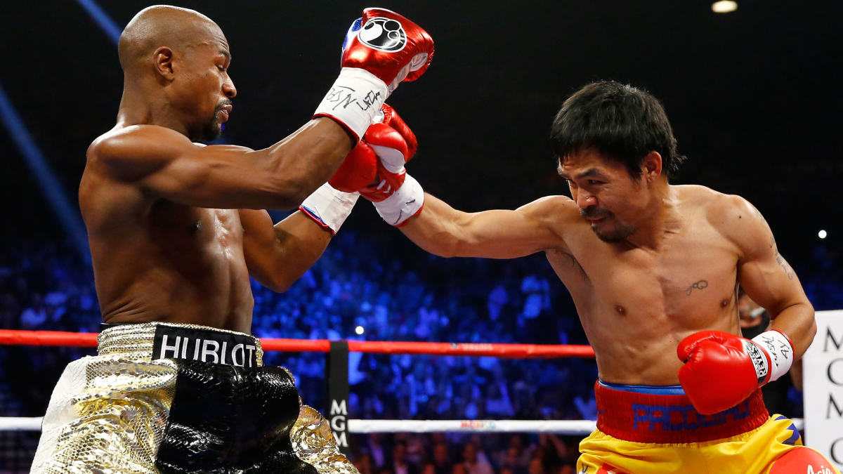 Manny Pacquiao Accuses Floyd Mayweather Of Running, Wants A Rematch UNILAD mayweather pac 15