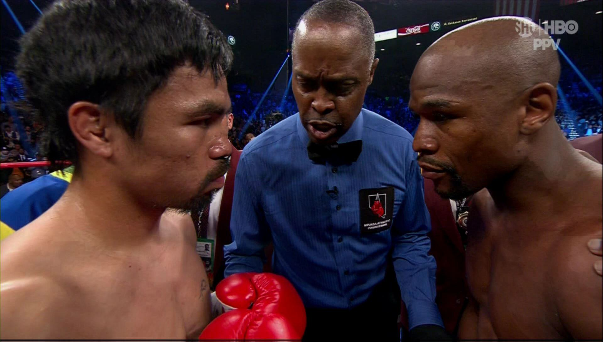 Manny Pacquiao Accuses Floyd Mayweather Of Running, Wants A Rematch UNILAD mayweather pac 24