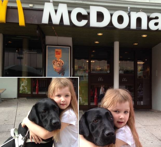 McDonalds Forces Blind Woman To Leave In Tears Because Of Her Guide Dog UNILAD mcdonalds blind 22