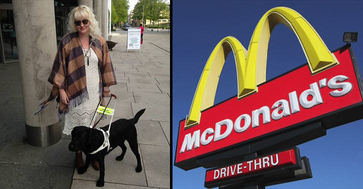 McDonalds Forces Blind Woman To Leave In Tears Because Of Her Guide Dog UNILAD mcdonalds blind 47