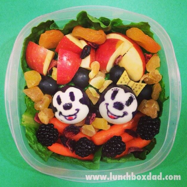 This Awesome Dad Makes The Best School Dinners Ever UNILAD mickey Minnie6