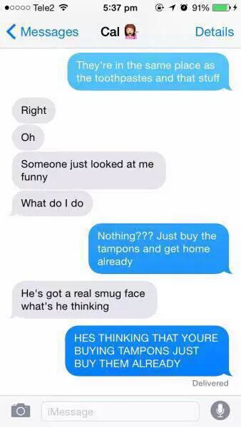These Messages Prove Guys Have Absolutely No Clue About Tampons UNILAD tampon5