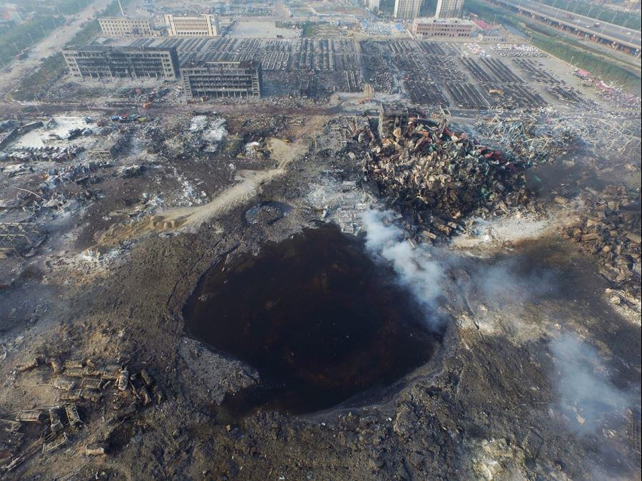 You Wont Believe The Size Of The Crater Left By The Tianjin Explosion UNILAD tianjin 16