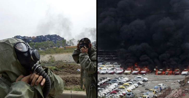 Fires In Tianjin Cause Police To Evacuate Over Chemical Contamination Fear UNILAD tianjin34