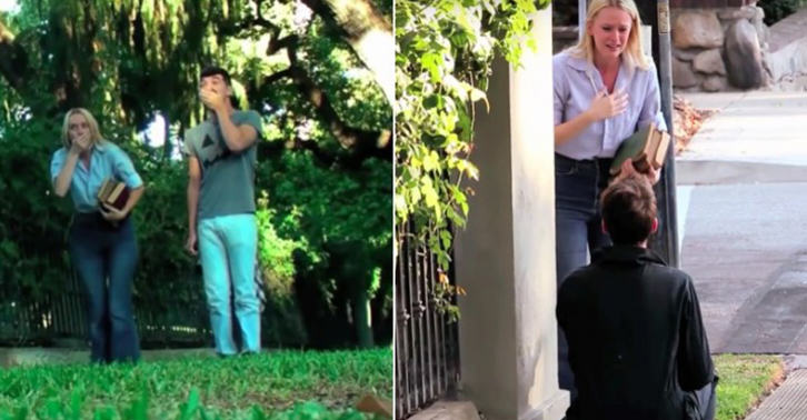 This Guy Chose The Scariest Way To Propose To His Girlfriend UNILAD wed 32