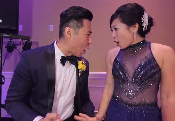 Seriously Impressive Couple Manage To Film Wedding Dance Video With 250 Guests In One Take UNILAD wedding 565