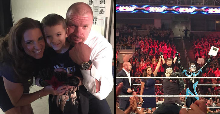 WWE Gives 8 Year Old Cancer Patient Chance To Live Out His Wrestling Dream XhW3az4Zi